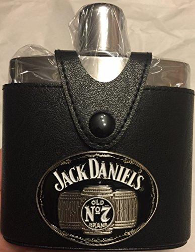 Jack-Daniels-Leather-Flask-with-Badge