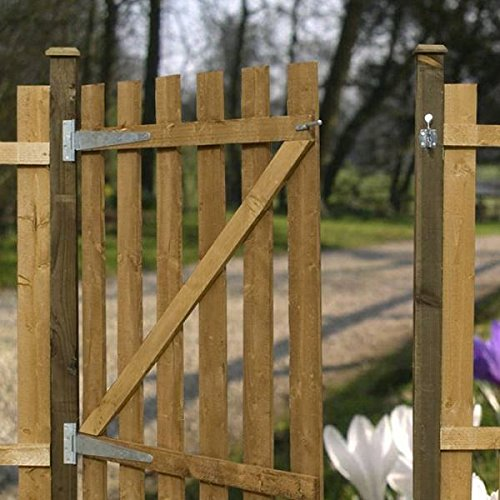 Metal Post 50x50x2350mm Flat Top Concrete-in galvanised fits tall garden gates fence fencing BP50X2350ZP