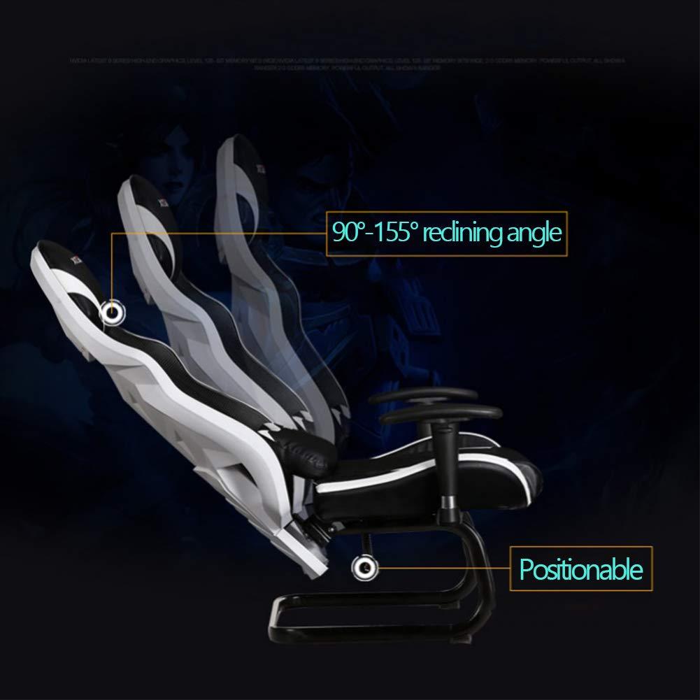 ATGTAOS spelstol studentstol, kontorsstol skrivbordsstol ergonomisk aktivitetsstol, justerbar svängbar hög rygg vilstol dator skrivbordsstol, lämplig för hem och kontor BLÅ BLÅ