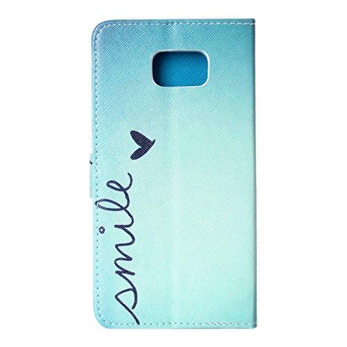 Funda para Samsung Galaxy Note 5, Galaxy Note 5 Flip funda de cuero PU, Galaxy Note 5 Funda Stand Protectora Carcasa Leather Wallet Case Cover Skin Shell Carcasa Funda, Ukayfe Cubierta de la caja Fund Laughing
