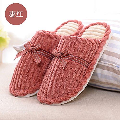Habuji inverno piscina carina uomini e donne pantofole in cotone con calda casa famiglia di spessore non-slip pantofole, 35-36,