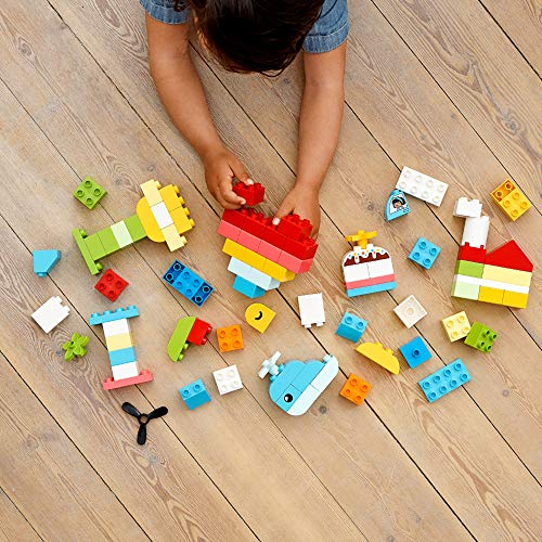 51VWdMWA6wL - LEGO DUPLO Classic Heart Box 10909 First Building Playset and Learning Toy for Toddlers, Great Preschooler's Developmental Toy, New 2020 (80 Pieces)