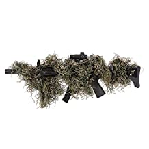 Docooler Camouflage Hunting Tactical Rifle Wrap Cover Hunting Gear Concealment for Ghillie Paintball Game