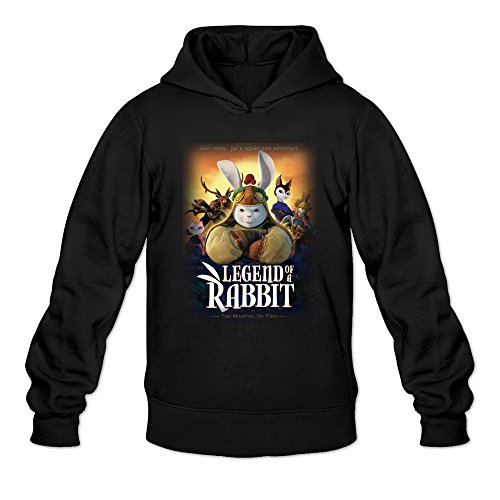 Men's Legend Of A Rabbit The Martial Of Fire Hoodie Black Medium ()