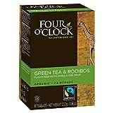 Four O'Clock Green Tea Rooibos Organic, 16 Count