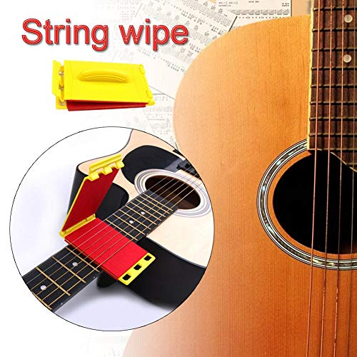 - nicemeet The String Cleaner for Bass Guitar Guitar String Cleaner Scrubber Fingerboard Fretboard Cleaning Cloth Tool