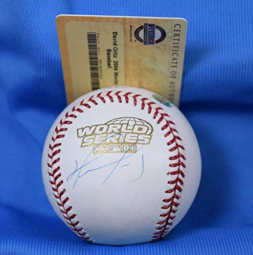 (DAVID ORTIZ Signed MLB and Steiner Coa 2004 World Series Baseball Autograph)