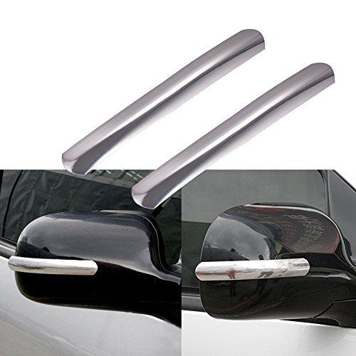 2Pcs Anti-Collision Strip For Car Rear View Mirror Fashion Decal Protector (Decal Strip)