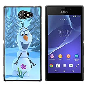 Exotic-Star ( Happy Spring Flower Winter ) Fundas Cover Cubre Hard Case Cover para Sony Xperia M2 / Xperia M2 Aqua / Sony Xperia M2 Dual