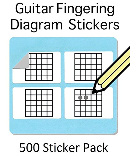 Guitar Chord and Fingering Stickers (500 Sticker Pack)