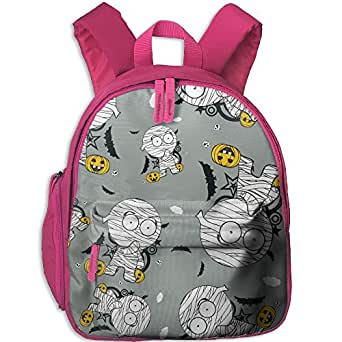 Halloween Mummy Cartoon Girls Printed Backpack Cool Travel Bag School Bookbag