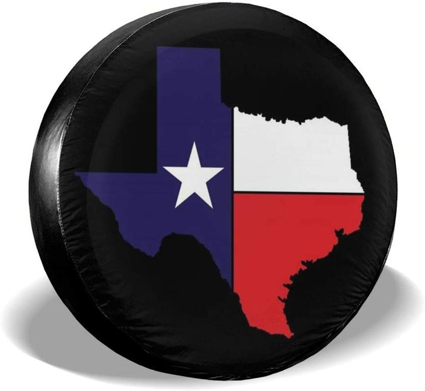 Trailer CHILL/·TEK Western Texas Stars Spare Tire Cover Polyester Waterproof Dust-Proof Universal Fit for Jeep Camper and Vehicle SUV RV