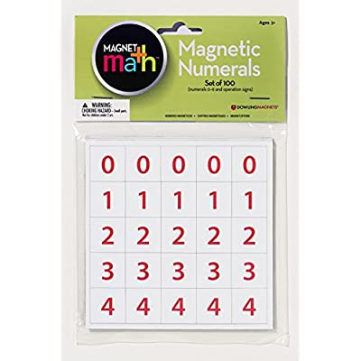 Dowling Magnets Magnetic Numerals (.88 inch in diameter), Set of 100: Industrial & Scientific [5Bkhe1203429]