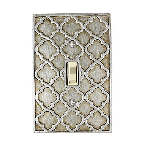 (Meriville Moroccan 1 Toggle Wallplate, Single Switch Electrical Cover Plate, Aged)