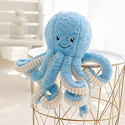 Allenhope Simulation Octopus Plush Stuffed Toy Pillow Cute Animal Doll Children Gifts 15.7 inches Blue: Office Products