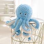 Asdomo Octopus Plush, Cute Sea Creature Stuffed Marine Animals Plush Toy Simulation Soft Plush Pillow Toys 15.7inches