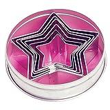 Fox Run 3626 Star Cookie Cutter Set, Stainless Steel, 6 Piece, Silver