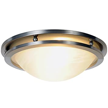 Monument 617602 Flush Mount Ceiling Fixture Brushed Nickel 137