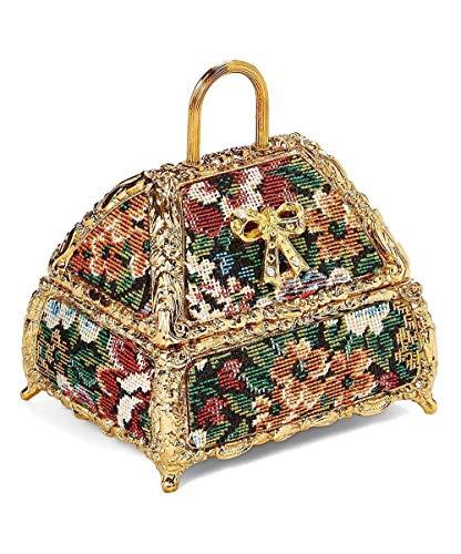- Tapestry Ladies' Handbag Musical Jewelry Box plays Memory