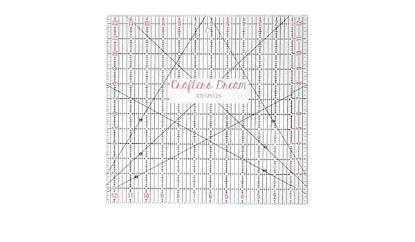 """Crafters Dream Quilting Ruler 4 x 12.5/"""""""