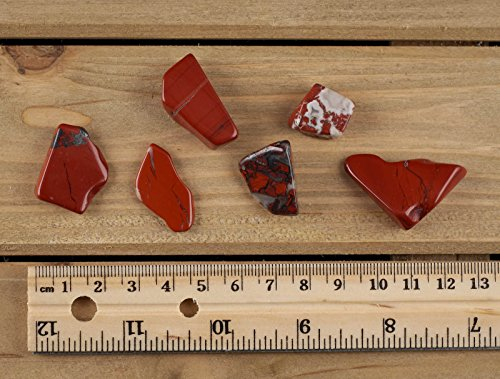 ThrowinStones RED Jasper Polished Stones - 30g Lot Tumbled Red Jasper Rocks, Reiki Wicca Crystals and Healing Stones E0021