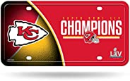 NFL Rico Industries LIV Metal License Plate Tag, Super Bowl Champion LIV - Kansas City Chiefs, 6 x 11.5-inches