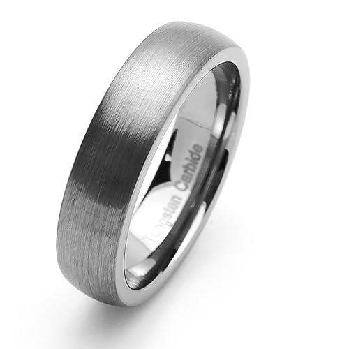 Pequeños Tesoros - 6MM Carburo De Tungsteno - Anillo De Matrimonio Hombres Mujeres Libre de cobalto