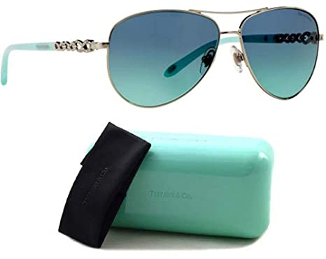 6f015befadeb Image Unavailable. Image not available for. Color: Tiffany & Co. TF3049B  Sunglasses Silver w/Blue Gradient ...