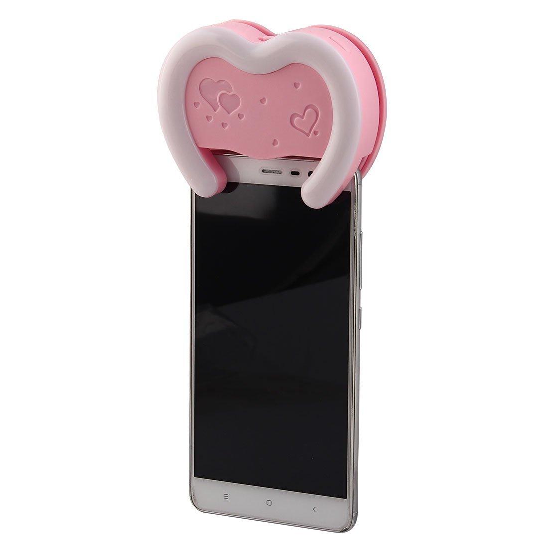 eDealMax LED Dimmable Selfie Anneau Rechargable Lumière Rose Pour les appareils intelligents by eDealMax