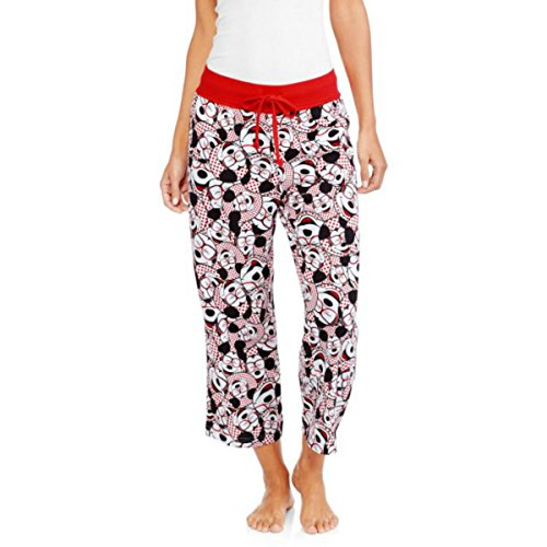 Mr Strong Costume (Disney Mickey Mouse Women's Knit Sleep Capri Lounge Pants (Medium (8-10)))