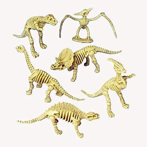 Just4fun 2 Dozen (24) Dinosaur Skeleton Figures - 3.5 Party Favors - Prizes - Pretend Play Science Dino Bones Fossils