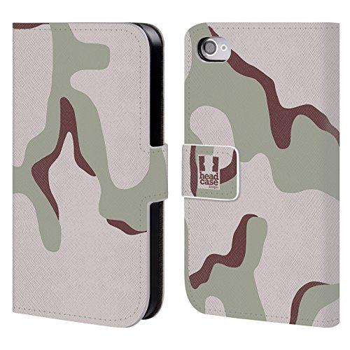 Head Case Designs Les Trois Couleurs Du Désert Camouflage Étui Coque De Livre En Cuir Pour Apple iPhone 4 / 4S