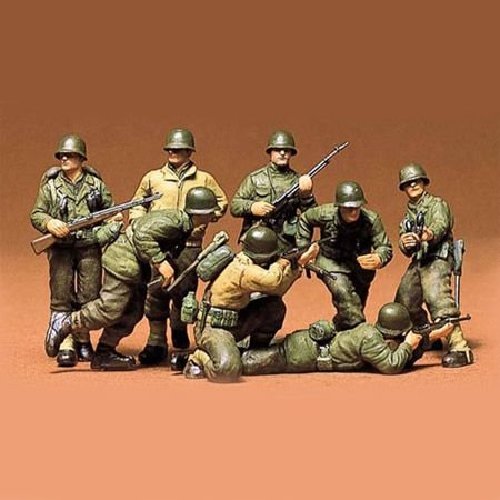 Tamiya America, Inc 1/35 US Infantry European Theater Kit, TAM35048