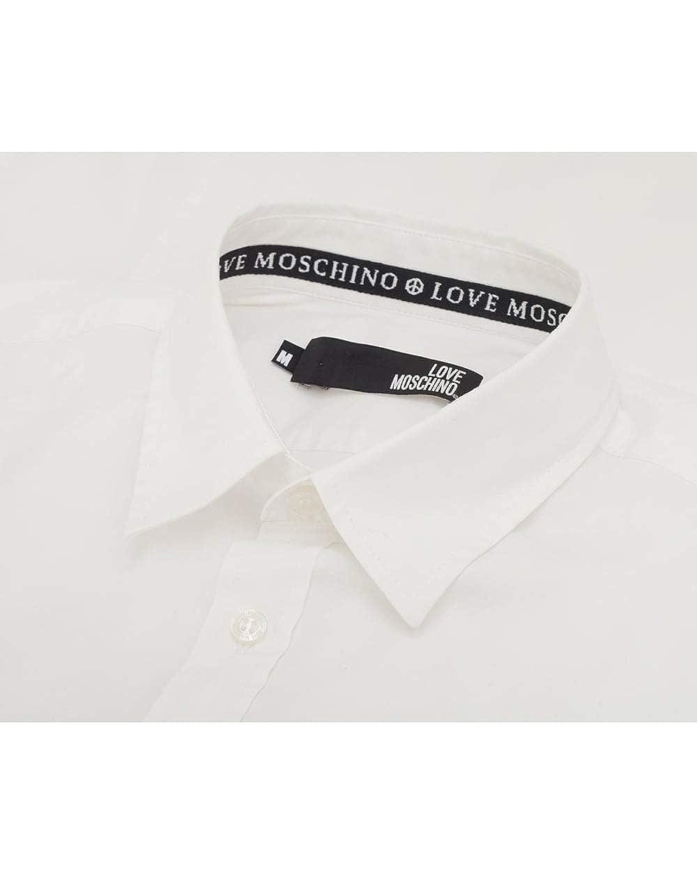 708976af30b4a Love Moschino - Chemise Casual - Homme Blanc Bianco S  Amazon.fr  Vêtements  et accessoires