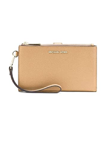9c4d2d61081dea MICHAEL Michael Kors Adele Pebbled Leather Smartphone Wristlet - Butternut