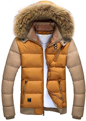 [해외]K 핫! 겨울 새로운 망 따뜻함 이동식 모피 칼라 후드 다운 자켓/K3K Hot! Winter New Mens Warmth Removable Fur Collar Hooded Down Jacket