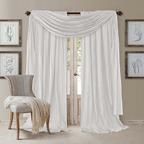 Elrene Home Fashions Venice Curtain Panels with Scarf Valanc