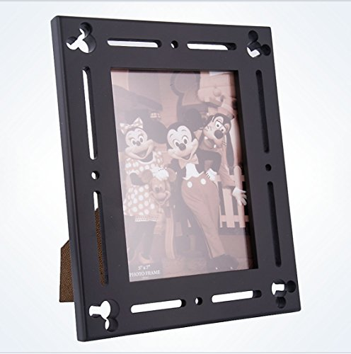 (Disney Parks Exclusive Mickey Corner Icon Black Wood 5x7 Photo Picture Frame)