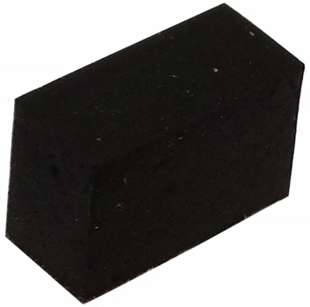 4mm 6.5x2.8mm para muebles,color negro. 10 x Patas pies adhesiva rectangulares de caucho A AERZETIX