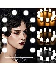 SEASKY Luces para Espejo Maquillaje 10 Bombillas LED,Luces del Espejo de Tocador con USB Función de Memoria