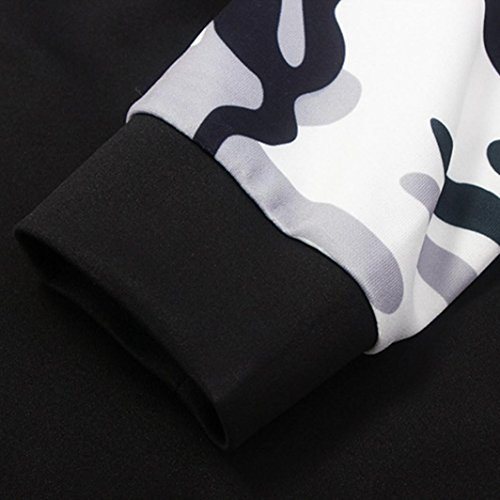 Ouneed® Camouflage Sweat - Shirt Femme Manches Longues