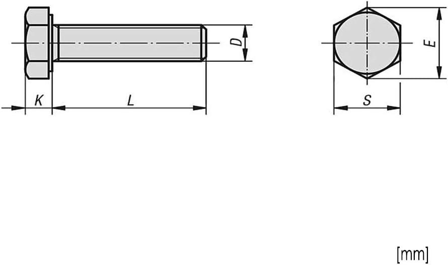 tuercas dentadas de bloqueo M10 x 120 acero inoxidable A2 resistencia clase 70 10 tornillos hexagonales