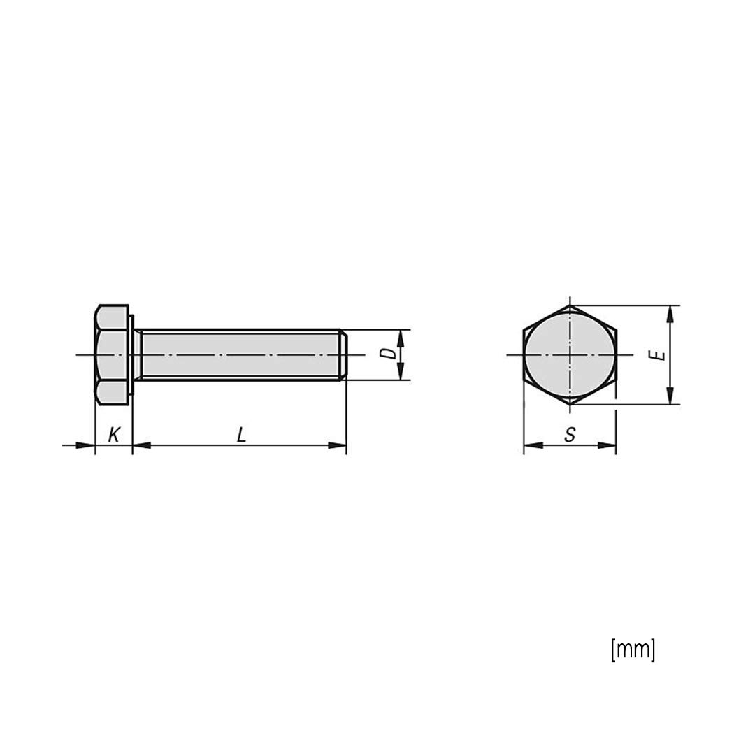 40x Sechskantschraube Muttern A2 M8x80 Edelstahl A2 Festigkeitsklasse 70