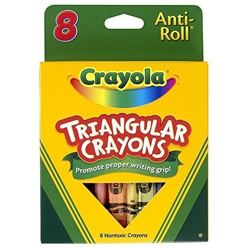 Crayola Anti-Roll Triangular Crayons, Assorted Colors 8 ea ( Pack of 12) by Crayola (Image #1)