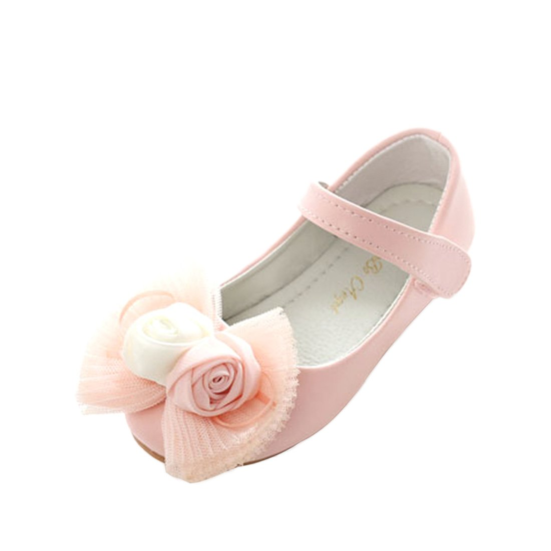 JTENGYAO Grils Mary Jane Dress Up Princess Shoes Wedding Flat Summer Sandals Shoes by JTENGYAO