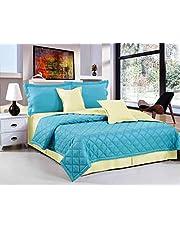 طقم لحاف مفرش سرير مضغوط لونين 6 قطع من هورس، مقاس كينغ