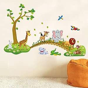 DIY Removable Wall Stickers For Kid's Room Home Decor Kindergarten Nursery Wall Decoration - Cartoon Zoo