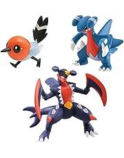 Bizak 30698538 Pokémon Mega-Garchomp, Fletchling en Gabite, verpakking met 3 stuks