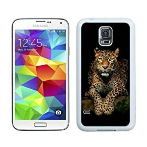 High Quality Samsung Galaxy S5 I9600 Case ,Cool And Fantastic Designed Case With Serious Leopard 3d Spots Illustration Wild Animal Android Wallpaper White Samsung Galaxy S5 I9600 Cover