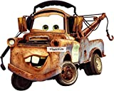 9 Inch Tow Mater Wall Decal Sticker Disney Pixar Cars 2 Movie Truck Removable Peel Self Stick Adhesive Vinyl Decorative Art Room Home Decor Kids Room Nursery Racing Decor 9 by 7 inches